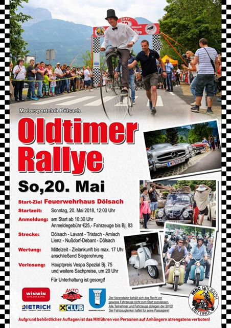 Oldtimer Ralley So. 20. Mai 2018